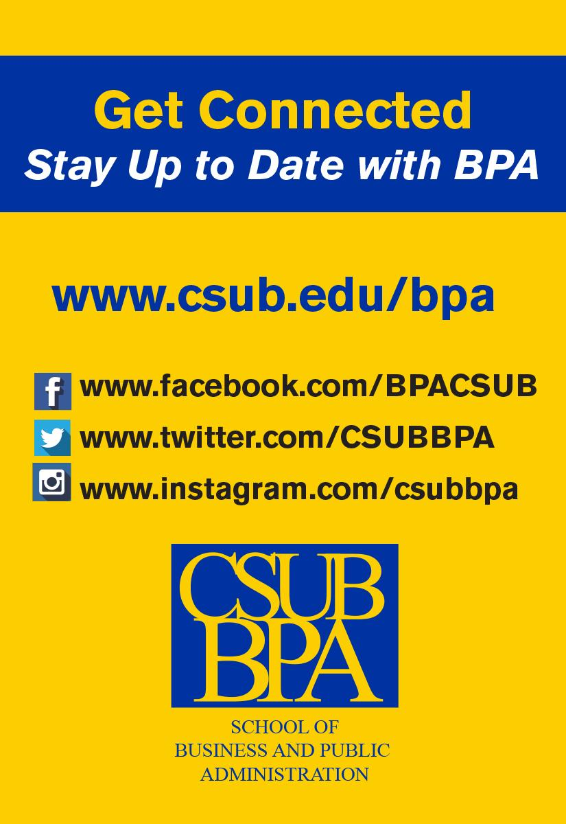 Get Connected with CSUB BPA