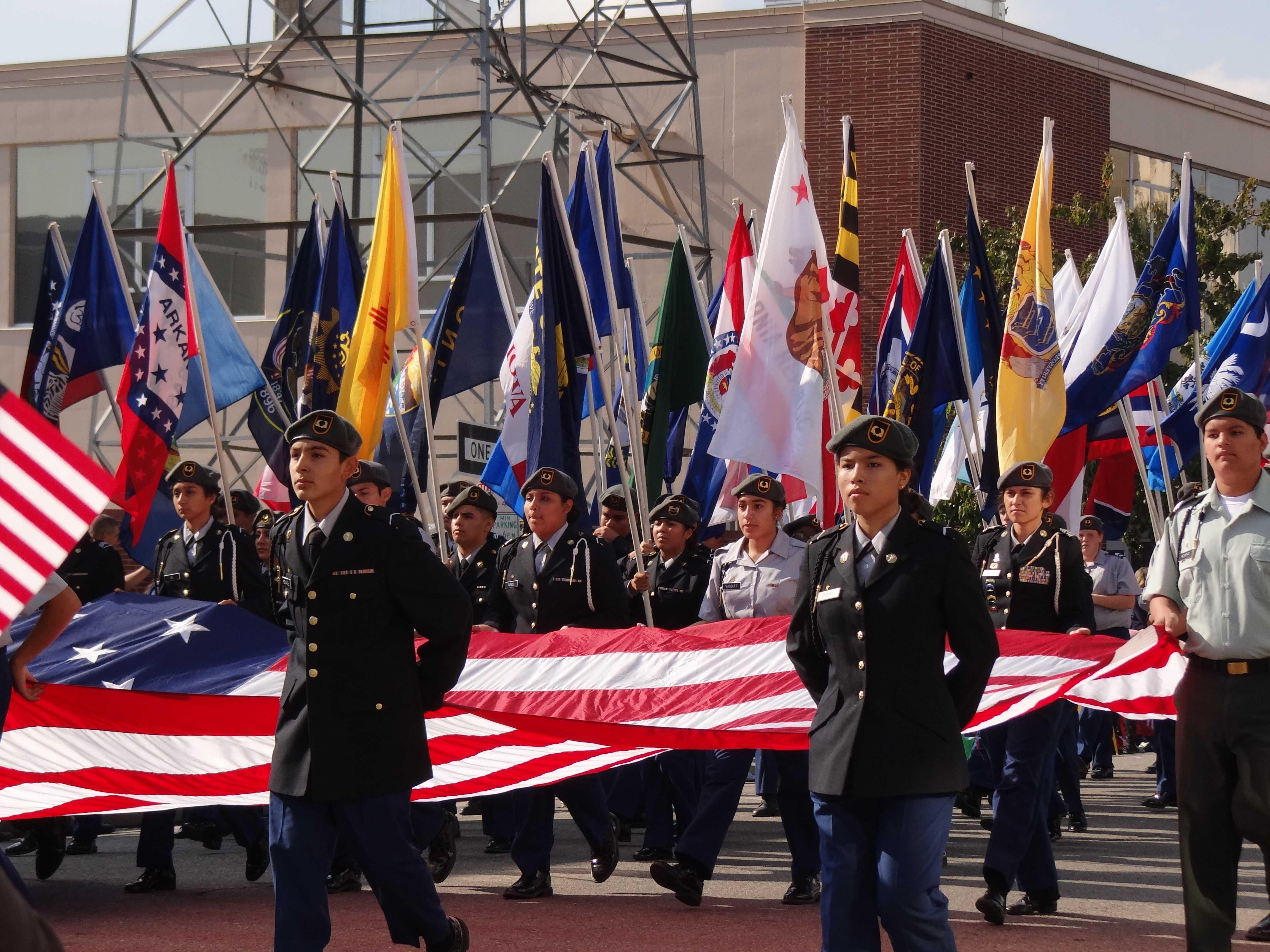 Parade honors service members