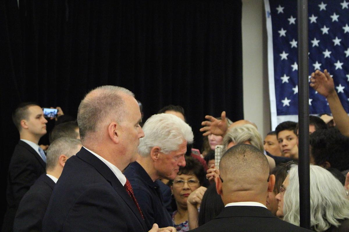 Bill Clinton speaks at Chavez High