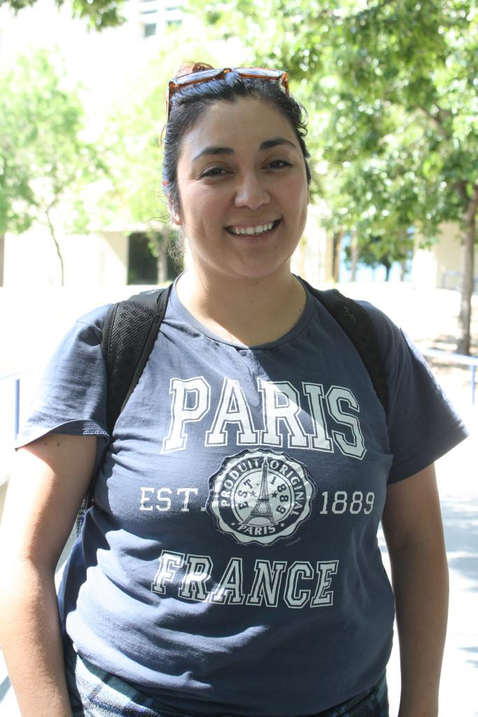 "Rebecca Guerrero, chemistry, 25. ""Sure, I think they should. We do not have many healthy choices in the café and Togo's is expensive."""