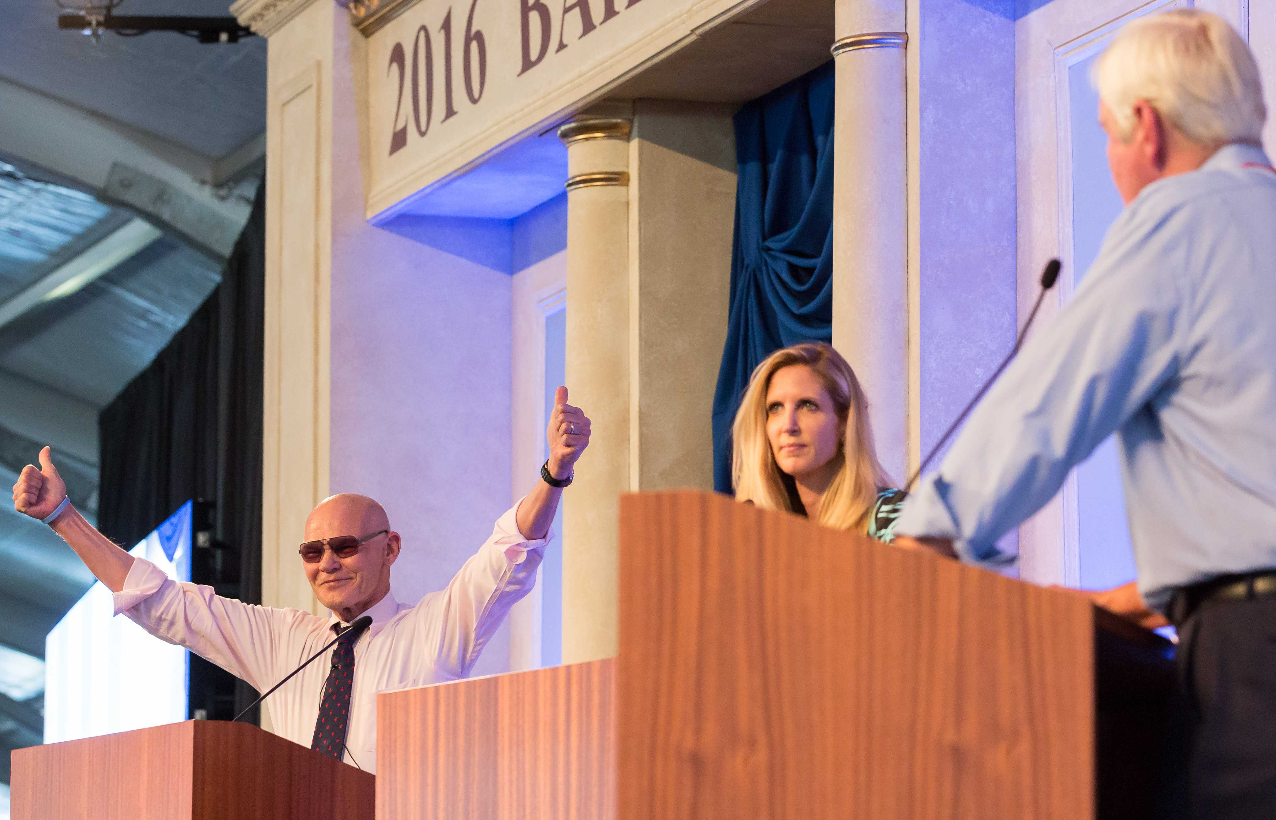 Coulter and Carville face off in heated debate