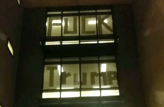 'F**k Trump' sign found at CSUB student housing