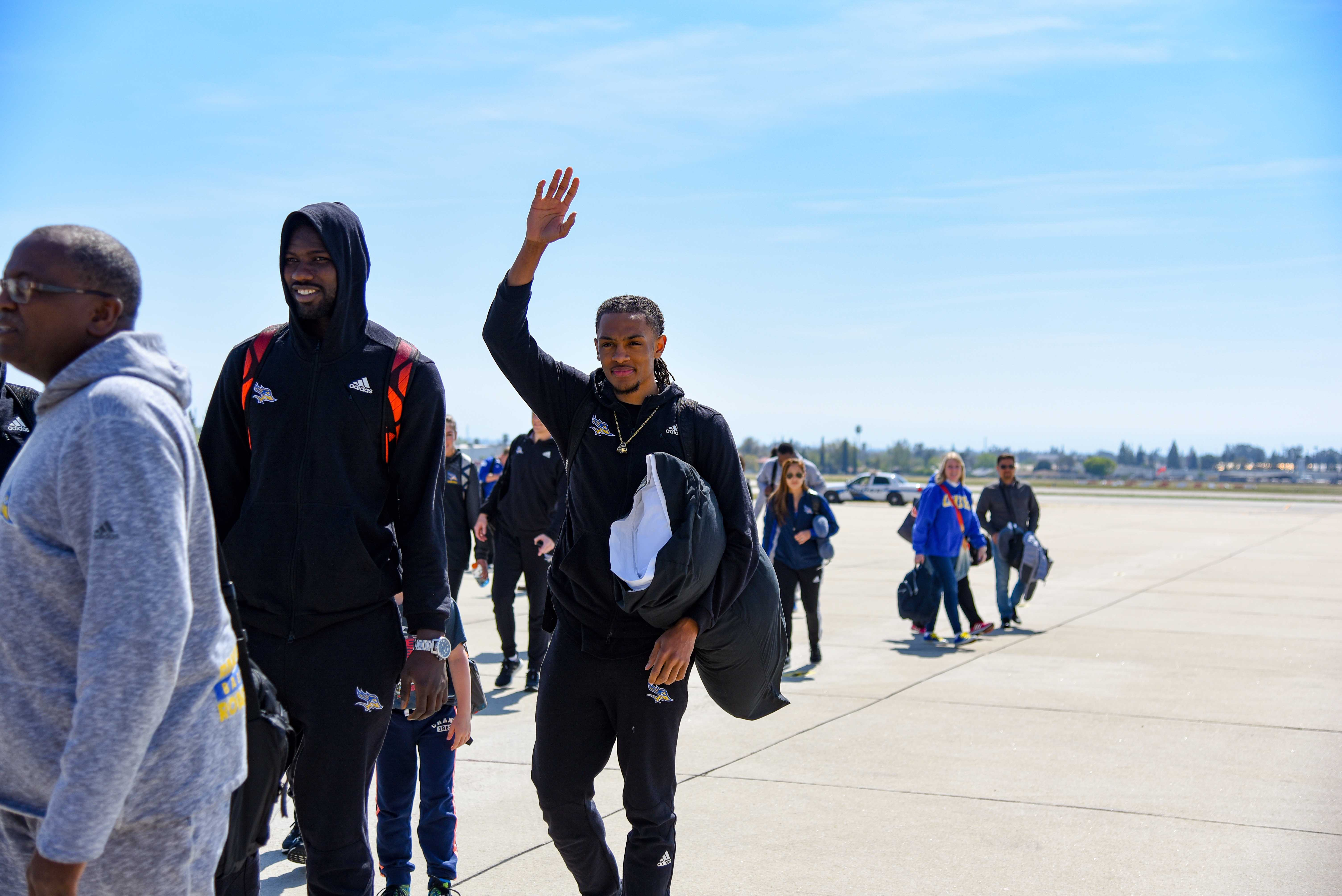 Men's basketball team returns from New York