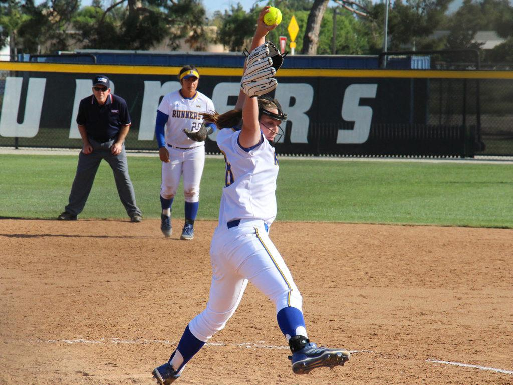 +Left+handed+pitcher+for+CSUB%2C+%2318+Daryn+Hitzel+takes+the+mound+early+in+the+third+inning.+%0A%0APhoto+by+Aaron+Mills%2F+The+Runner