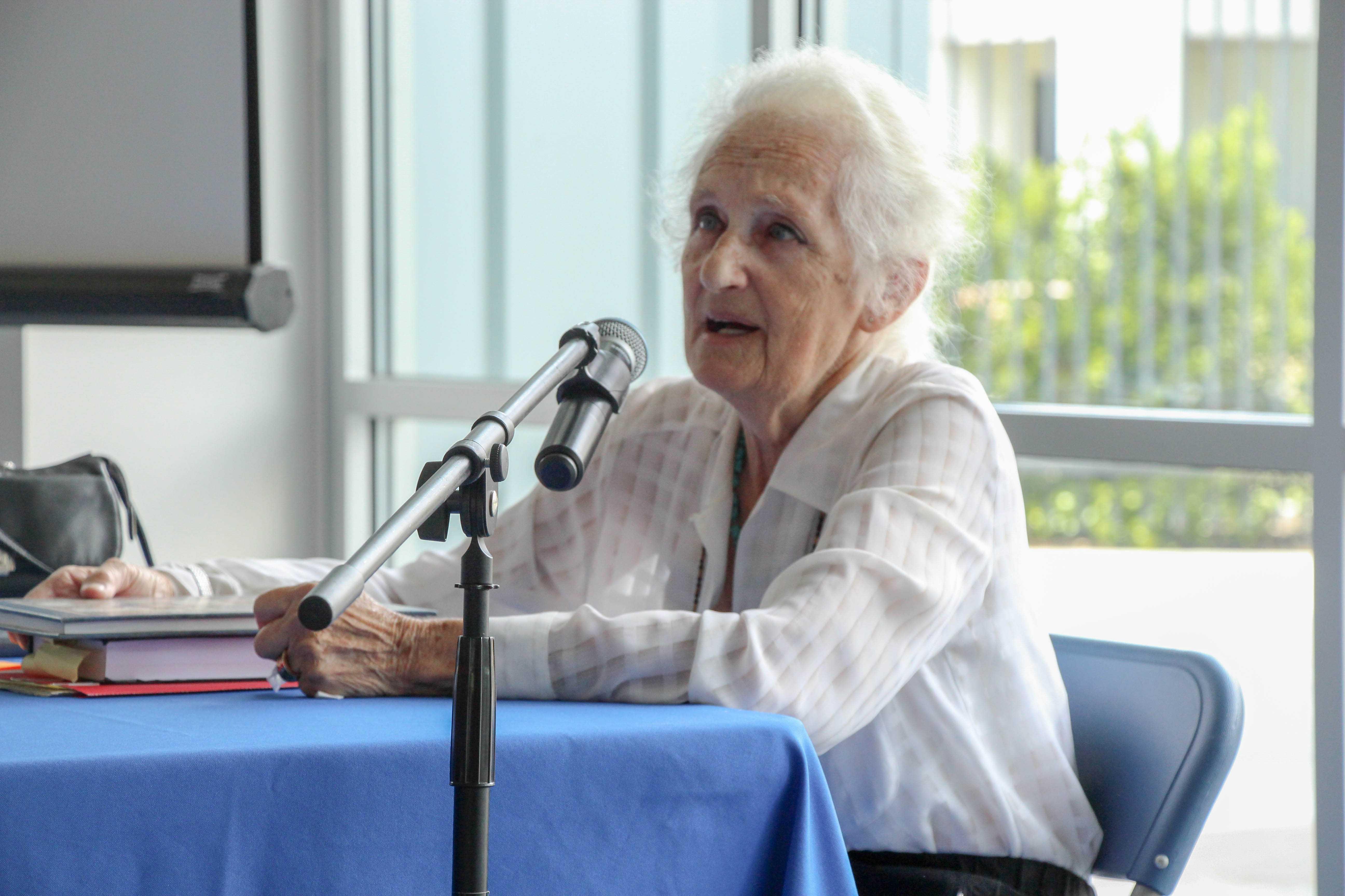 Holocaust survivor tells people at CSUB of her experiences