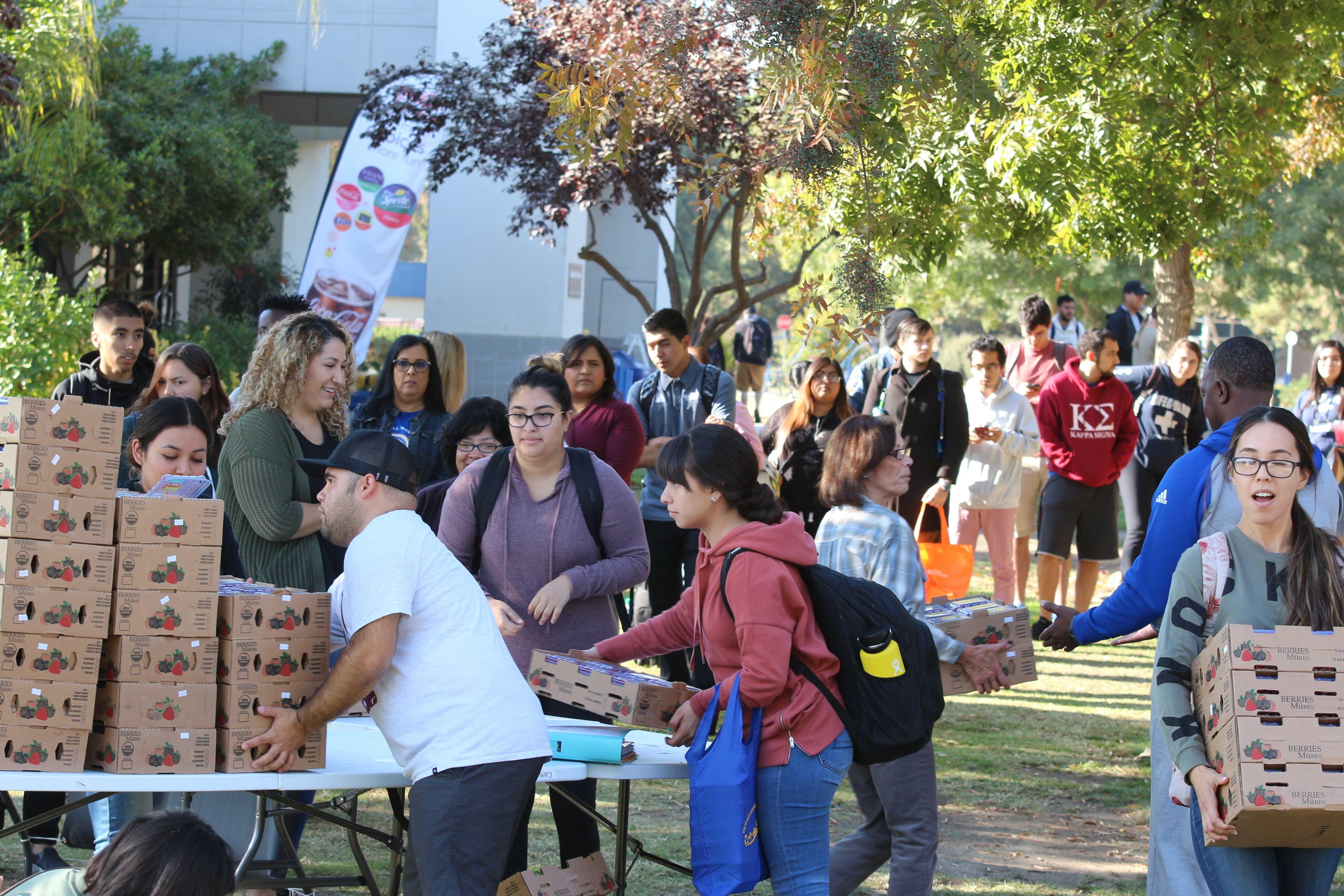 CSUB Food Pantry receives huge raspberry donation