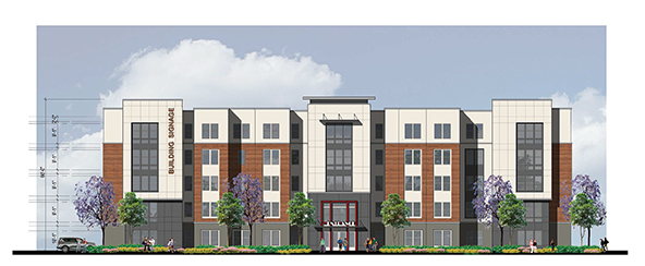 Coleraine Capital Group is proposing to build two, five story student dormitories on the corner of Stockdale Highway and Coffee Road. Image courtesy of Coleraine Capital Group, Inc.