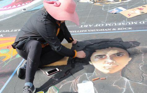 Expression through chalk at Via Arté