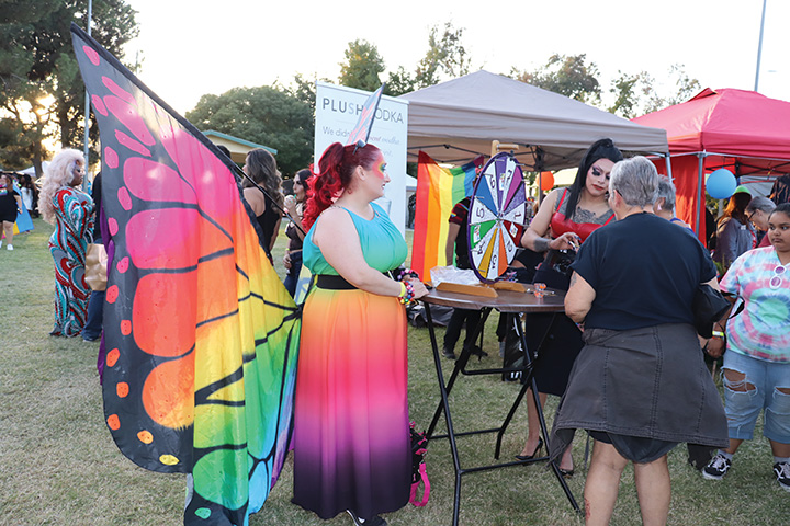 Avairrianna%2C+a+drag+participant%2C+was+seen+in+a+flamboyant+butterfly+wardrobe+on+Oct.+12%2C+2019+during+a+Bakersfield+LGBTQ%2B+event.+++
