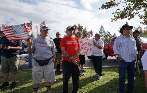 Local Trump supporters protest impeachment inquiry