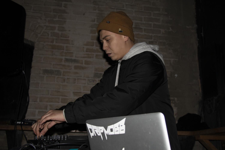 Josh Buchanan (Drip Mobb) playing his set at The Mint on Nov. 27. Photo by Damian Lopez